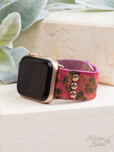 Wildest Dreams 38/40/42 Leather Smart Watch Band, Gilded Rose
