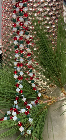 Christmas Beaded Necklace 60""