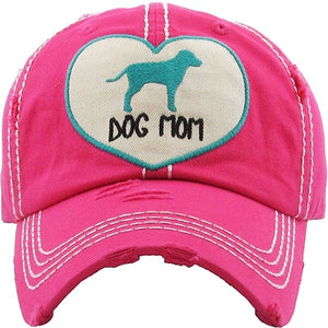 Hot Pink Heart Dog Mom Hat