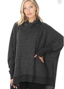 Kim's Cowl Neck Oversized Hi-Low Sweater