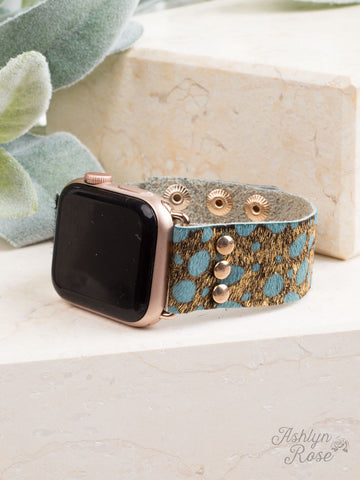 Wildest Dreams 38/40/42 Leather Smart Watch Band, Blue