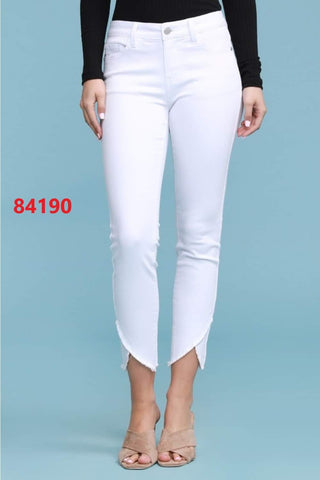 White Skinny Fit Mid Rise Judy Blue Jeans
