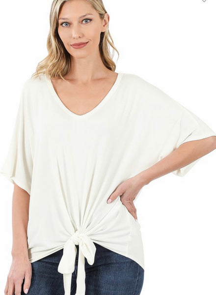 Lyla Luxe V-Neck Tie Top