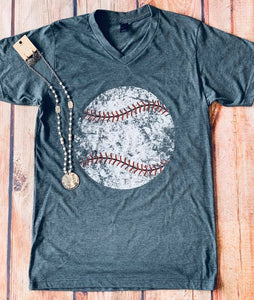 Distressed Baseball, Softball & Soccer Shirts