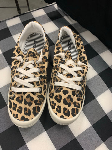 Comfy Cheetah Tennis Shoes
