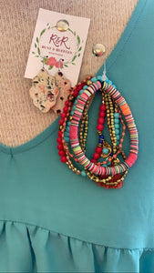 Summer Fun Hot Pink Multi Bracelet Set