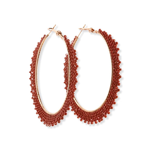 Pumpkin Spice Gala Hoop Earrings