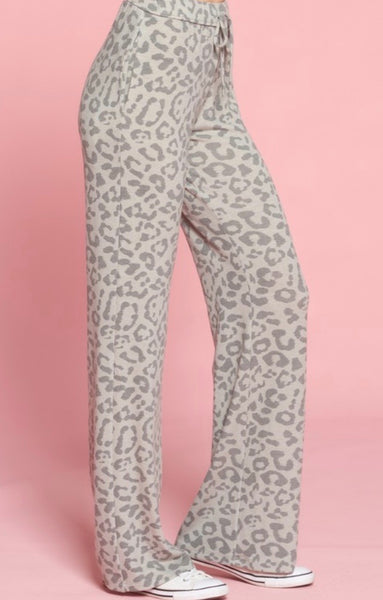 Gray Leopard Lounge Pants
