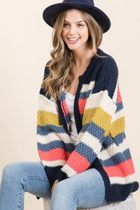 Jadyn's MULTI STRIPE SWEATER