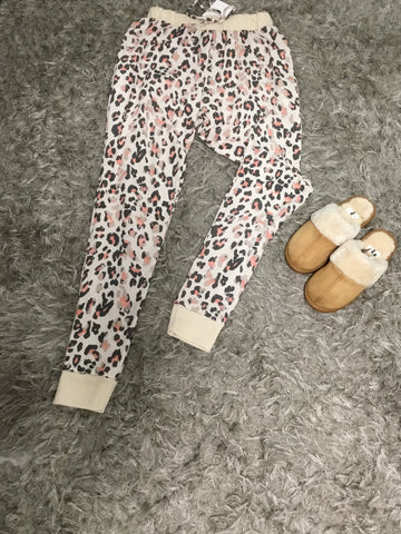 Cream Cheetah Lounge Pants