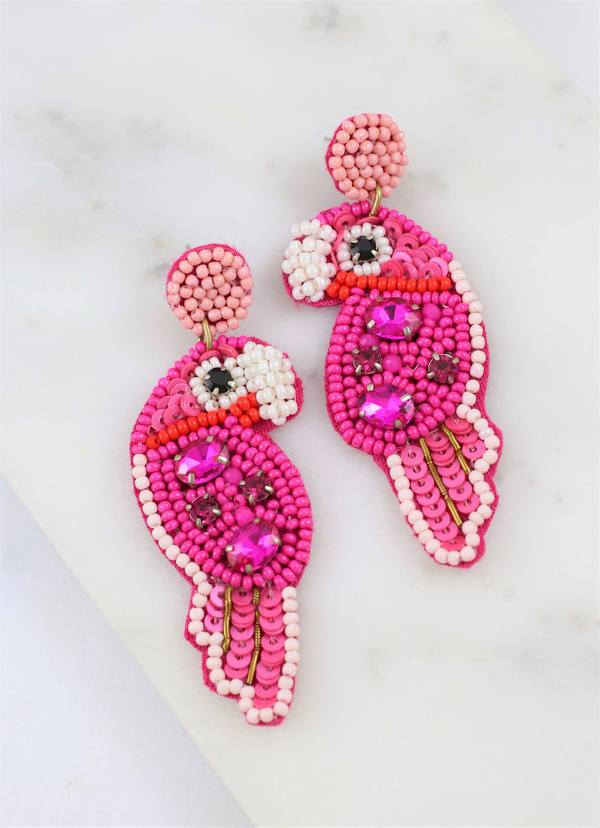 Polly Parrot Embellished Earrings