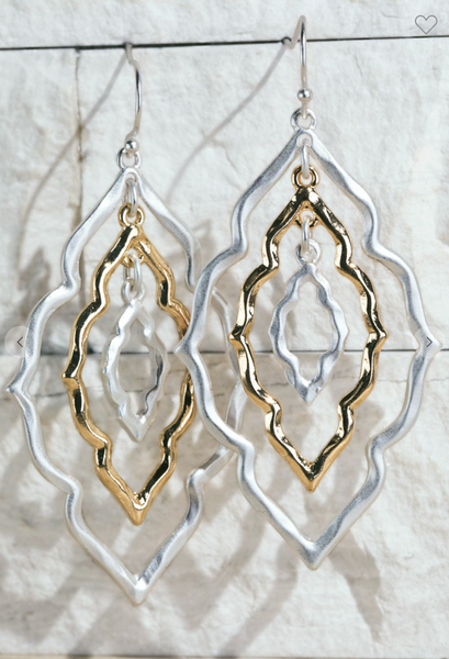 Layered Moroccan Flower Earrings