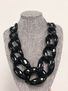 Wide Open Thick Chain Necklace