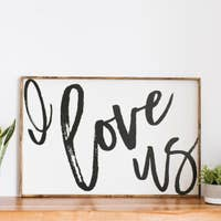 COMING SOON! I Love Us Wood Sign