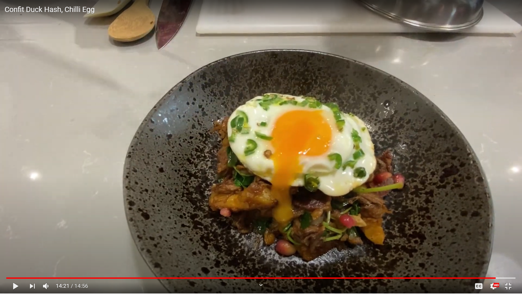 Cookalong Week 5-  Confit Duck Hash & Chilli Egg!