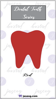 Red Dental Tooth Pin