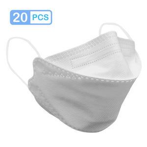 5-200pcs KF94 마스크 Masks 94% Filtration 4 Layer Non-woven Breathable Dustproof Anti Pollution Protective Safety Mouth Face Masks - chianostore