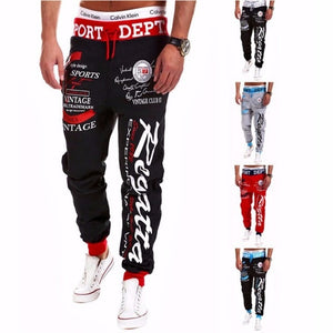 Baggy Mens Letter Printing Baggy Harem Cool Long Pants Joggers Wear - chianostore