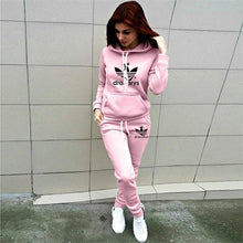 Load image into Gallery viewer, 2 Piece Set Women Hoodie Pants Printed Tracksuit Pullover Sweatshirt - chianostore