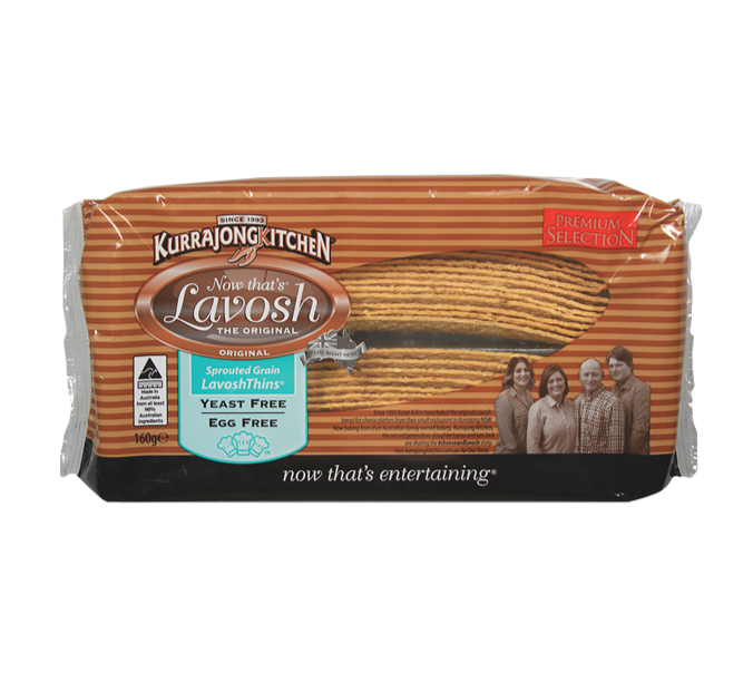 Kurrajong Kitchen Wholemeal Lavosh Thins (160g)