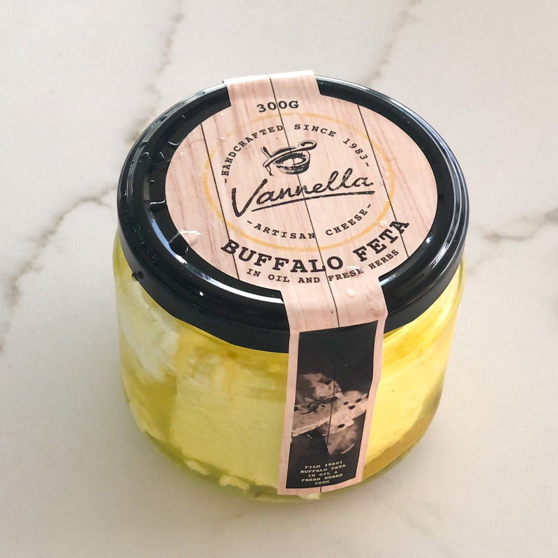 Vannella Marinated Buffalo Feta (300g)