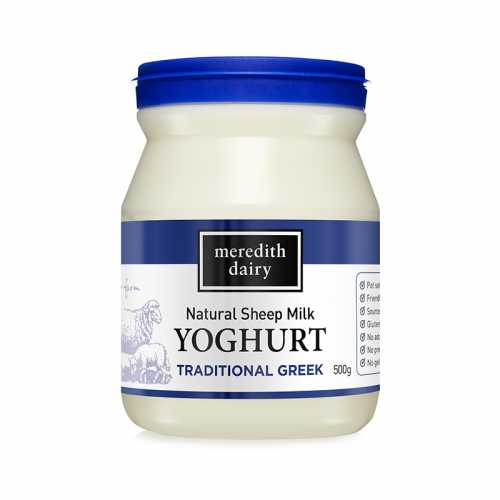 Meredith Dairy Natural Sheep Yoghurt BLUE (500g)