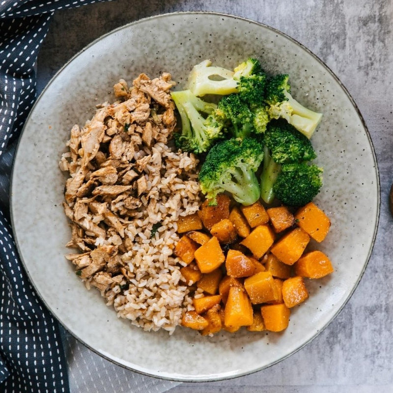 PP Chargrilled Chicken, Brown Rice, Broccolli & Sesame Pumpkin (400g)
