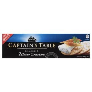 Captain's Table Classic Water Crackers (125g)