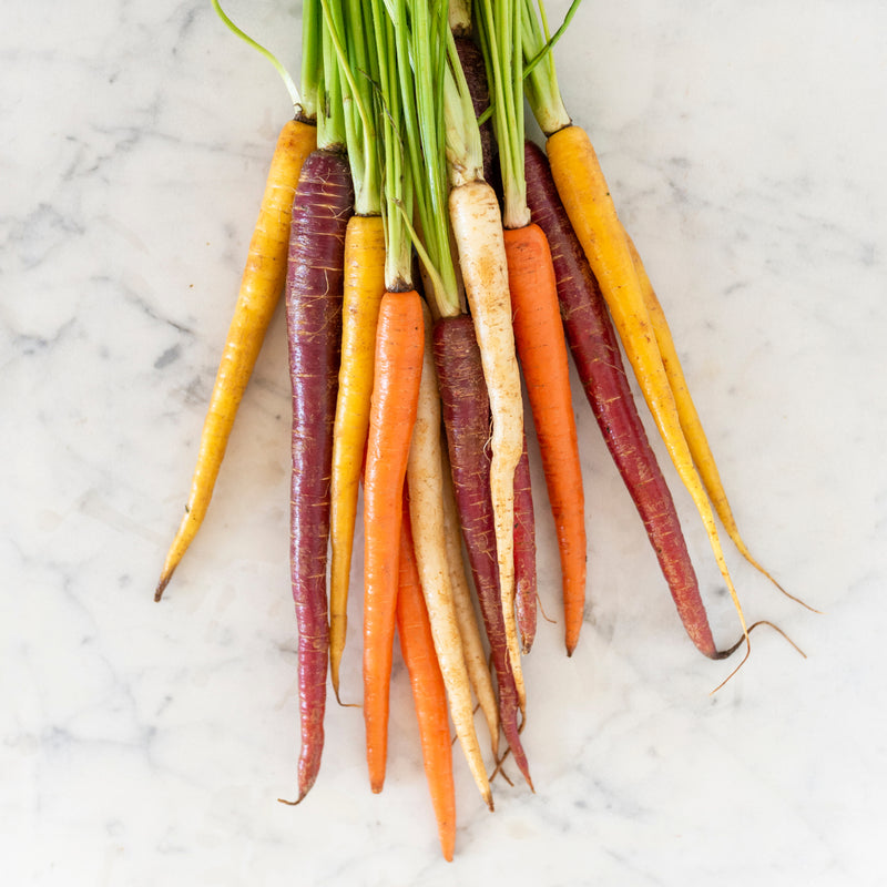 Heirloom Carrots Rainbow Mix (bunch)
