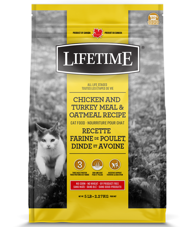 TROUW NUTRITION LIFETIME CHAT POULET/DINDE/AVOINE 2.27KG
