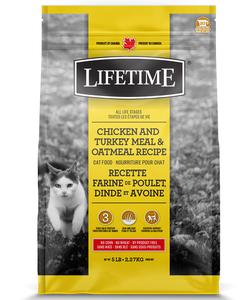 TROUW NUTRITION LIFETIME CHAT POULET/DINDE/AVOINE 6.5KG