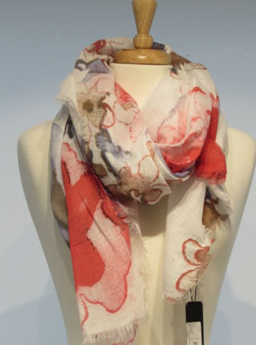 Scarf - Blossom Weave Red