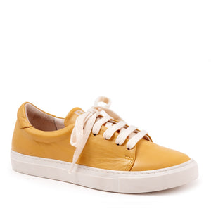 "Bueno ""Rascal"" Leather Sneaker Yellow"