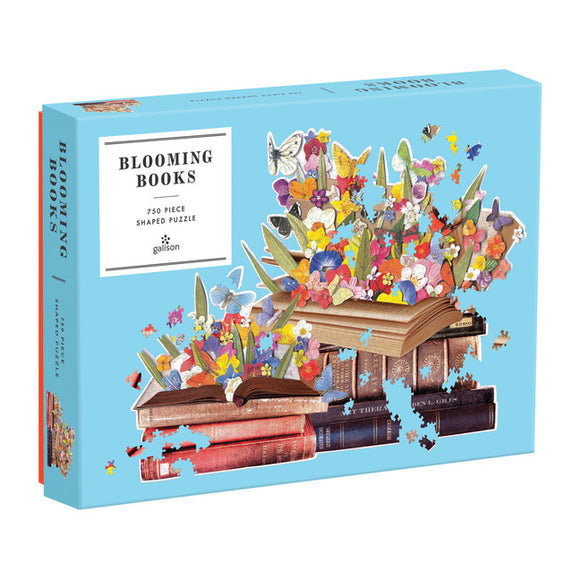 Puzzle - Blooming Books Shaped 750 Piece Puzzle
