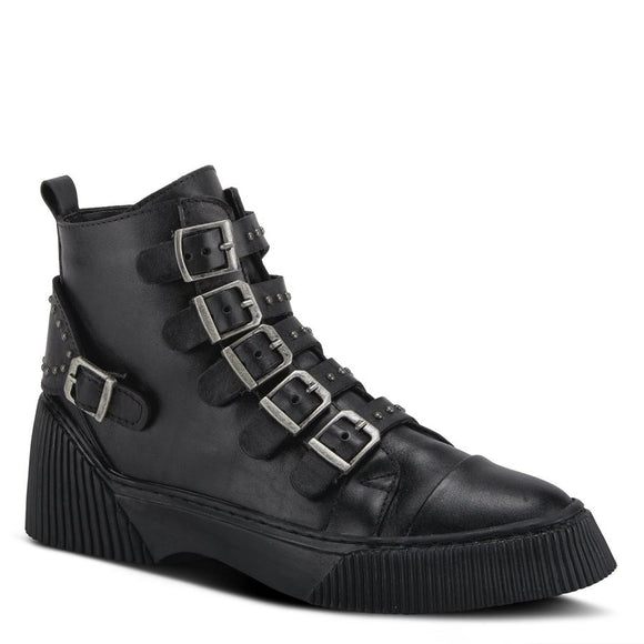 Be Cool Black Boot by Spring Step