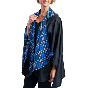 RainCaper - Black/Royal Tartan