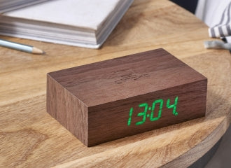 Wireless Flip Clock - Walnut by Ginko