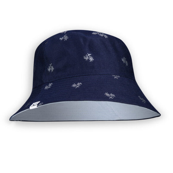 Unified Hat Bucket Reversible Unisex - Navy Palm