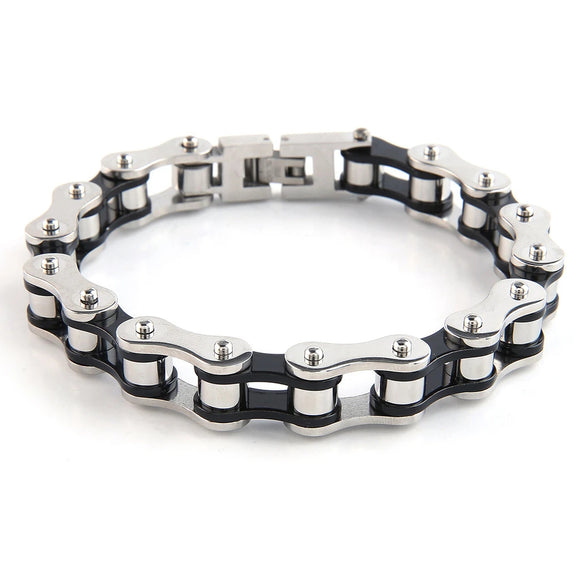 Stainless Steal Bike Chain Bracelet by Mad Style