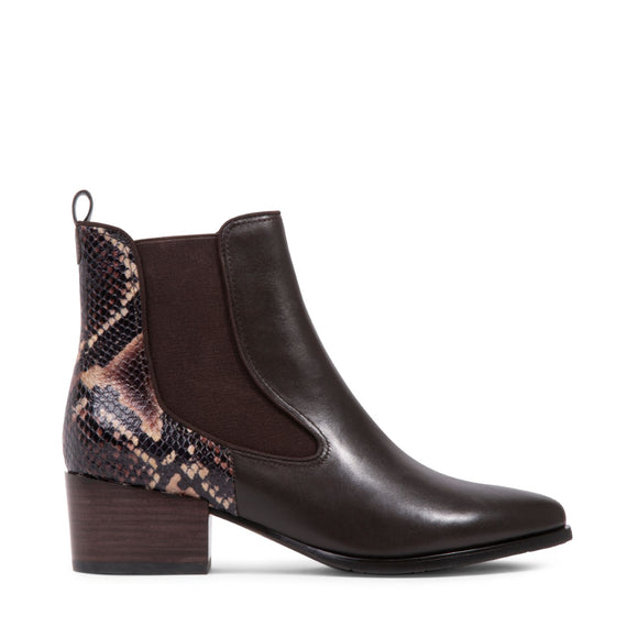 Vaia Waterproof Ankle Boot - Brown Snake by Blondo