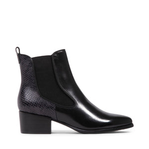 Vaia Waterproof Ankle Boot - Charcoal Leather by Blondo