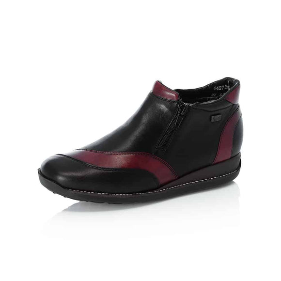 boot-Warm- Black and Burgundy- Rieker