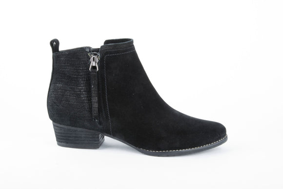 Infinit Waterproof Ankle Boot - Black Suede by Blondo
