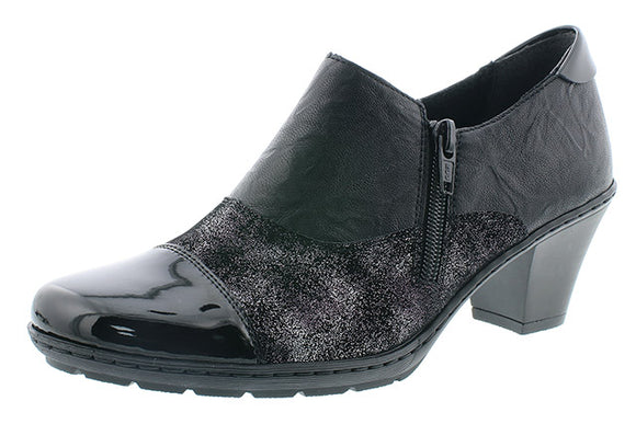 Slip-on mid heel - Black by Rieker