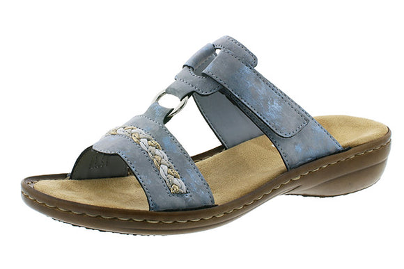 Slip-on Sandal (Light Blue) by Rieker