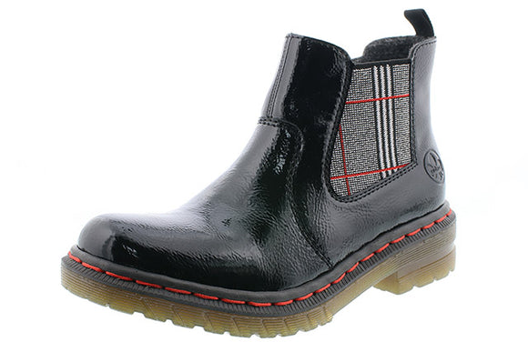 Patent Leather Chelsea Boot by Rieker