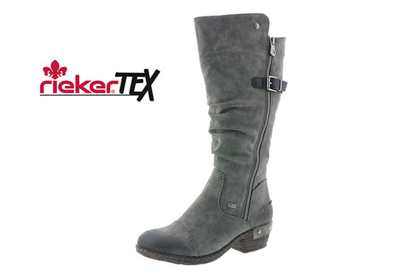 Distressed Grey Winter Boot by Rieker