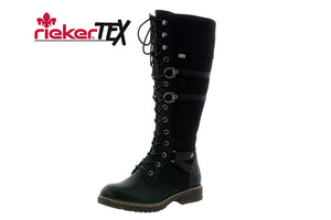 black Lace-Up Winter Boot by Rieker