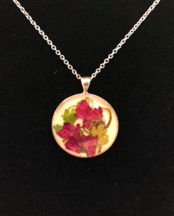 Pressed Flower Necklace #3