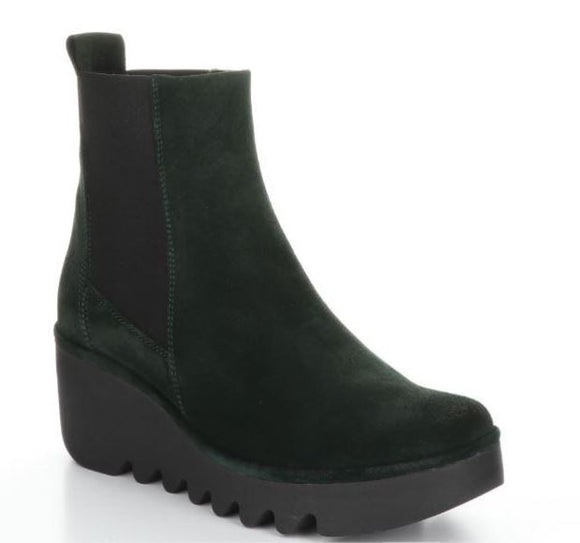 Chelsea Boot (Emerald Green Suede) by FLY London